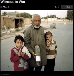 Lybia, April 2011 ©Tim Hetherington - (source: www.newsweek.com)