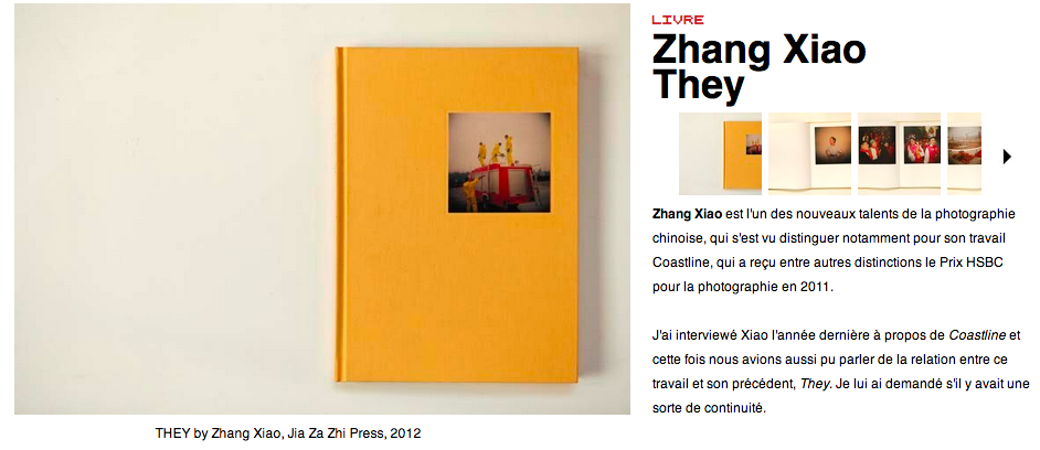Zhang Xiao Le Journal de la Photographie